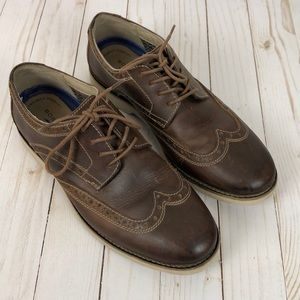Bostonian Leather Saddle Oxford Shoes Mens 8